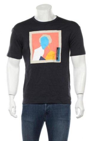 Мъжка тениска Zara, Размер S, Цвят Син, Памук, Цена 39,00лв.