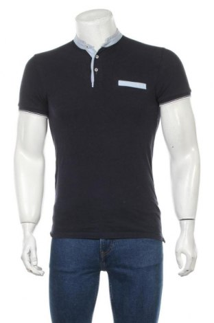 Мъжка тениска Zara, Размер S, Цвят Син, Памук, Цена 28,00лв.