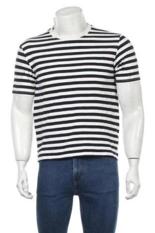 Мъжка тениска Zara, Размер M, Цвят Син, Памук, Цена 36,00лв.