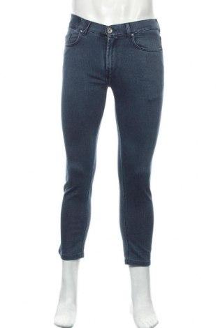 Мъжки дънки Boggi, Размер M, Цвят Син, 57% памук, 40% полиестер, 3% еластан, Цена 42,75лв.