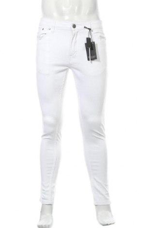 Мъжки дънки Brave Soul, Размер M, Цвят Бял, 98% памук, 2% еластан, Цена 40,02лв.