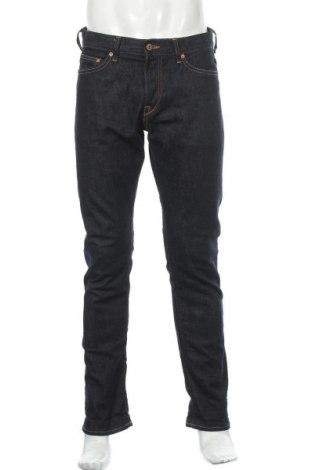 Мъжки дънки H&M Conscious Collection, Размер L, Цвят Син, 99% памук, 1% еластан, Цена 23,21лв.