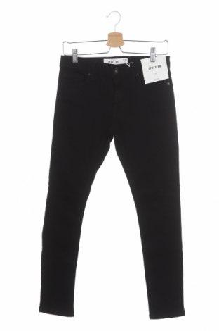 Мъжки дънки Topman, Размер S, Цвят Черен, 84% памук, 15% полиестер, 1% еластан, Цена 15,28лв.