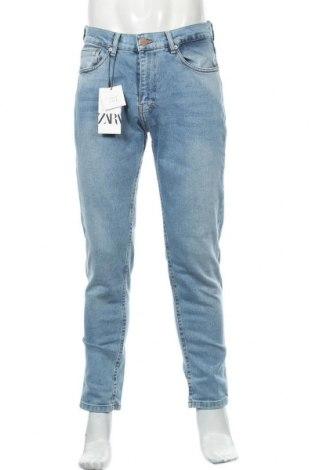 Pánské džíny  Zara, Velikost L, Barva Modrá, 99% bavlna, 1% elastan, Cena  797,00Kč