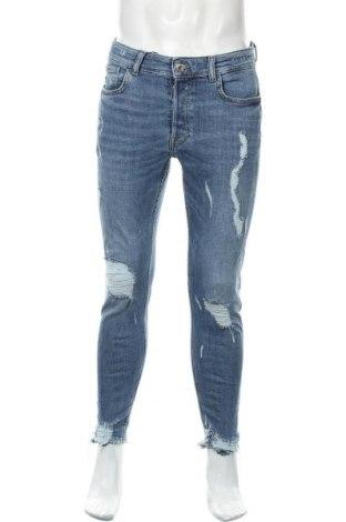 Pánské džíny  Zara, Velikost M, Barva Modrá, 99% bavlna, 1% elastan, Cena  797,00Kč