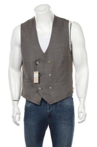 Мъжки елек Hackett, Размер L, Цвят Кафяв, 67% вълна, 20% коприна, 13% лен, Цена 51,60лв.
