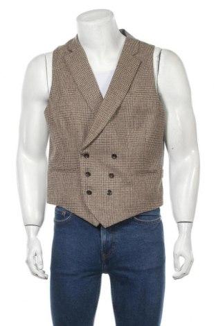 Мъжки елек Hackett, Размер L, Цвят Многоцветен, Вълна, вискоза, модал, памук, Цена 61,92лв.