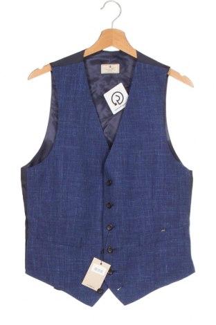 Мъжки елек Hackett, Размер S, Цвят Син, 71% вълна, 15% коприна, 14% лен, Цена 66,72лв.