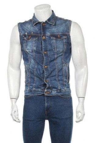 Ανδρικό γιλέκο Zara Man, Μέγεθος M, Χρώμα Μπλέ, 98% βαμβάκι, 2% ελαστάνη, Τιμή 25,92€
