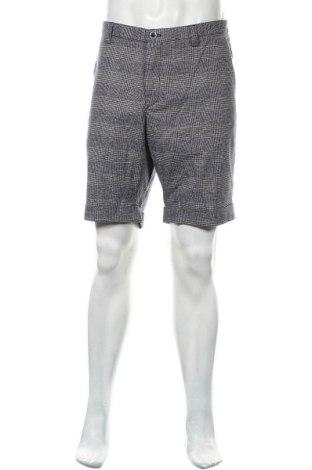 Мъжки къс панталон Massimo Dutti, Размер XL, Цвят Син, 59% памук, 26% полиамид, 13% лен, 2% еластан, Цена 53,40лв.