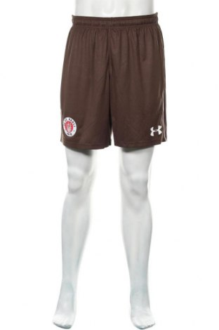 Pantaloni scurți de bărbați Under Armour, Mărime L, Culoare Maro, Poliester, Preț 116,94 Lei