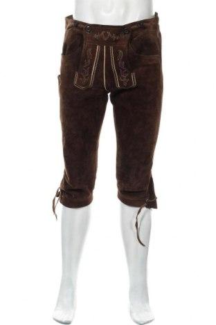 Мъжки кожен панталон, Размер L, Цвят Кафяв, Естествена кожа, Цена 65,10лв.