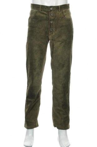 Pánské kožené kalhoty , Velikost M, Barva Zelená, Pravá kůže, Cena  1030,00Kč