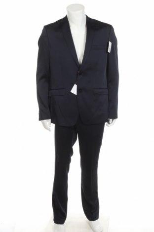 Costum de bărbați Bruno Banani, Mărime L, Culoare Albastru, 84% poliester, 14% viscoză, 2% elastan, Preț 468,98 Lei