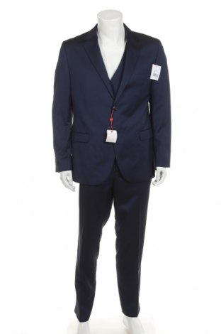 Costum de bărbați Man's World, Mărime L, Culoare Albastru, 73% poliester, 27% viscoză, Preț 341,94 Lei