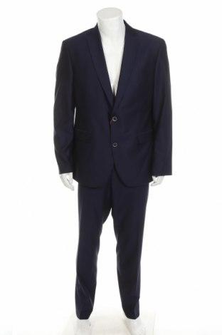 Costum de bărbați Man's World, Mărime XL, Culoare Albastru, 77% poliamidă, 20% lână de alpaca, 3% elastan, Preț 269,57 Lei