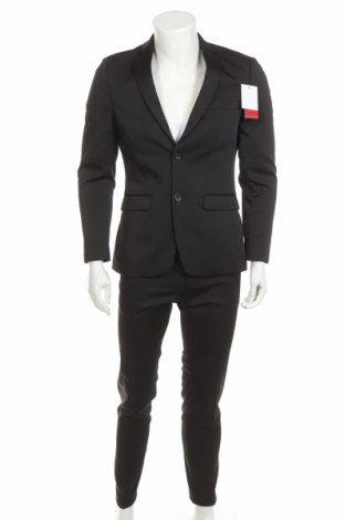 Costum de bărbați Thomas Goodwin, Mărime M, Culoare Negru, 85% poliester, 13% viscoză, 2% elastan, Preț 294,64 Lei