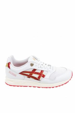 Ανδρικά παπούτσια ASICS, Μέγεθος 44, Χρώμα Λευκό, Γνήσιο δέρμα, κλωστοϋφαντουργικά προϊόντα, δερματίνη, Τιμή 35,90€