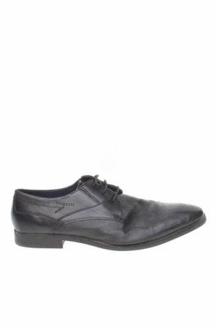 Мъжки обувки Bugatti, Размер 44, Цвят Черен, Естествена кожа, Цена 47,40лв.