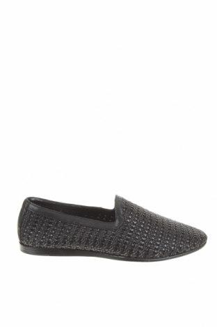 Ανδρικά παπούτσια Zara, Μέγεθος 43, Χρώμα Μαύρο, Δερματίνη, κλωστοϋφαντουργικά προϊόντα, Τιμή 20,65€