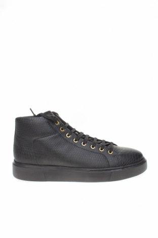 Ανδρικά παπούτσια Zara, Μέγεθος 44, Χρώμα Μαύρο, Δερματίνη, Τιμή 24,32€
