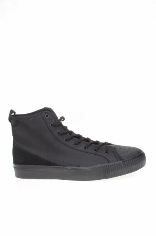 Ανδρικά παπούτσια Zara, Μέγεθος 45, Χρώμα Μαύρο, Κλωστοϋφαντουργικά προϊόντα, Τιμή 16,12€