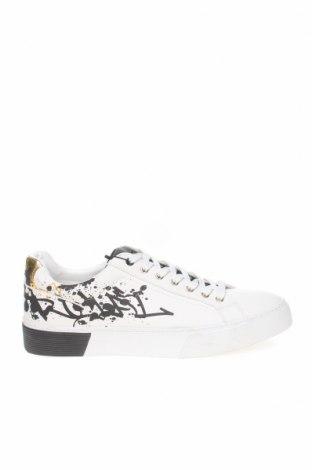 Ανδρικά παπούτσια Zara, Μέγεθος 44, Χρώμα Λευκό, Δερματίνη, Τιμή 14,10€