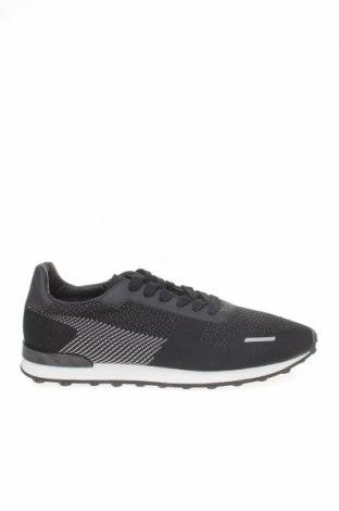 Ανδρικά παπούτσια Zara, Μέγεθος 44, Χρώμα Μαύρο, Κλωστοϋφαντουργικά προϊόντα, δερματίνη, Τιμή 22,02€
