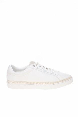 Ανδρικά παπούτσια Zara, Μέγεθος 43, Χρώμα Λευκό, Δερματίνη, φυσικό σουέτ, Τιμή 19,55€