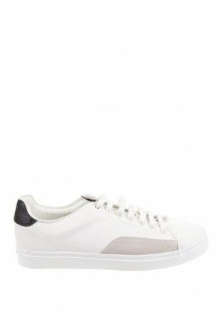 Мъжки обувки Zara, Размер 44, Цвят Бял, Еко кожа, Цена 31,15лв.