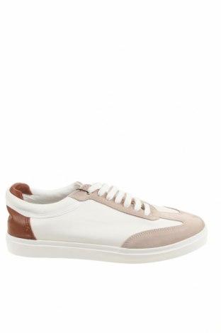 Ανδρικά παπούτσια Zara, Μέγεθος 42, Χρώμα Λευκό, Δερματίνη, φυσικό σουέτ, Τιμή 19,55€