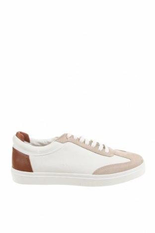 Мъжки обувки Zara, Размер 42, Цвят Бял, Еко кожа, естествен велур, Цена 53,40лв.