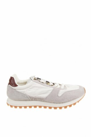 Ανδρικά παπούτσια Zara, Μέγεθος 43, Χρώμα Λευκό, Φυσικό σουέτ, κλωστοϋφαντουργικά προϊόντα, Τιμή 27,60€