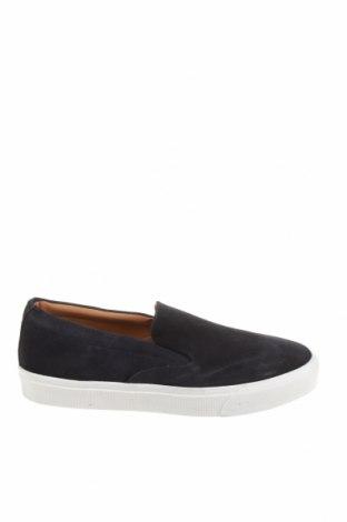 Ανδρικά παπούτσια Zara, Μέγεθος 43, Χρώμα Μπλέ, Φυσικό σουέτ, Τιμή 27,60€