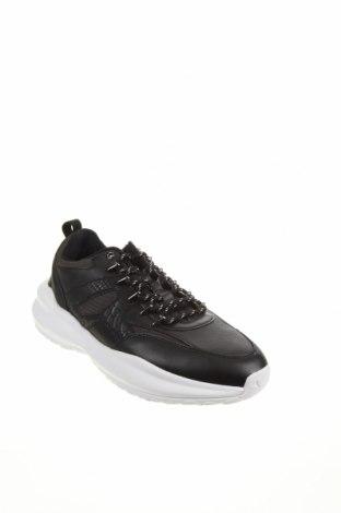 Мъжки обувки Zara, Размер 44, Цвят Черен, Текстил, еко кожа, Цена 66,75лв.