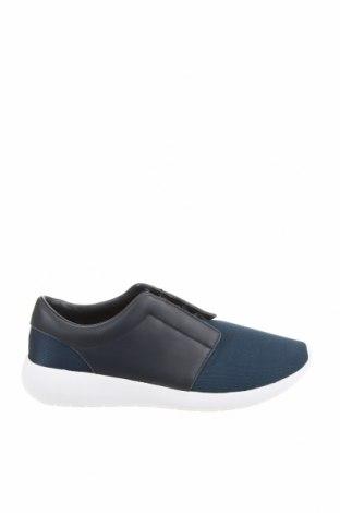 Ανδρικά παπούτσια Zara, Μέγεθος 43, Χρώμα Μπλέ, Κλωστοϋφαντουργικά προϊόντα, γνήσιο δέρμα, Τιμή 22,02€