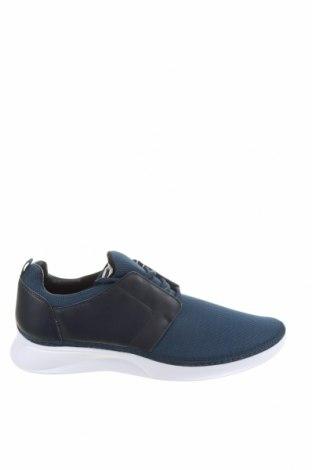 Ανδρικά παπούτσια Zara, Μέγεθος 44, Χρώμα Μπλέ, Κλωστοϋφαντουργικά προϊόντα, γνήσιο δέρμα, Τιμή 22,02€