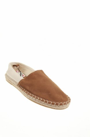 Мъжки обувки Zara, Размер 43, Цвят Кафяв, Естествен велур, текстил, Цена 40,05лв.