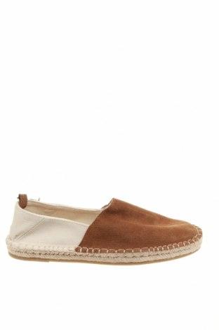Мъжки обувки Zara, Размер 41, Цвят Кафяв, Естествен велур, текстил, Цена 40,05лв.