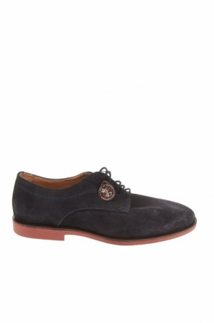Ανδρικά παπούτσια Zara, Μέγεθος 42, Χρώμα Μπλέ, Φυσικό σουέτ, Τιμή 27,60€