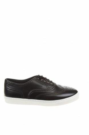 Ανδρικά παπούτσια Zara, Μέγεθος 43, Χρώμα Μαύρο, Δερματίνη, Τιμή 22,02€