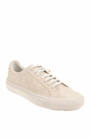 Мъжки обувки Zara, Размер 41, Цвят Бежов, Еко кожа, Цена 26,07лв.
