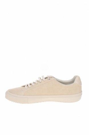 Мъжки обувки Zara, Размер 42, Цвят Бежов, Еко кожа, Цена 35,60лв.