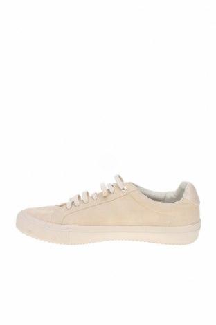 Мъжки обувки Zara, Размер 42, Цвят Бежов, Еко кожа, Цена 26,07лв.