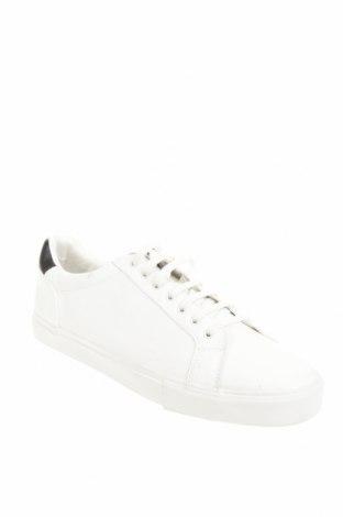 Мъжки обувки Zara, Размер 45, Цвят Бял, Еко кожа, Цена 39,50лв.