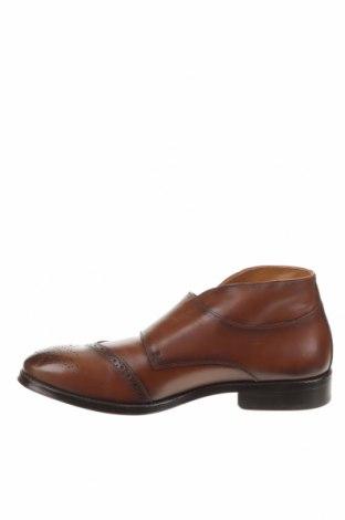 Мъжки обувки Zara, Размер 44, Цвят Кафяв, Естествена кожа, Цена 38,70лв.