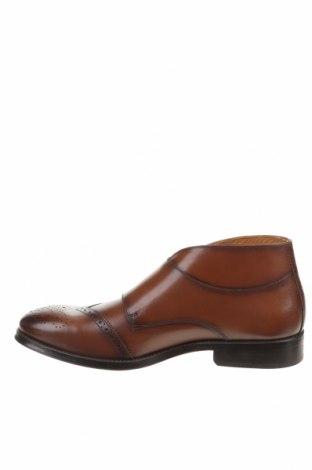 Мъжки обувки Zara, Размер 43, Цвят Кафяв, Естествена кожа, Цена 38,70лв.
