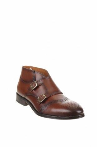 Мъжки обувки Zara, Размер 42, Цвят Кафяв, Естествена кожа, Цена 38,70лв.