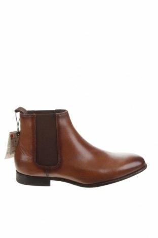 Ανδρικά παπούτσια Zara, Μέγεθος 41, Χρώμα Καφέ, Γνήσιο δέρμα, Τιμή 14,33€