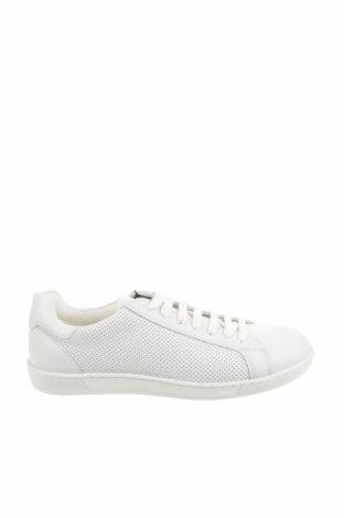 Ανδρικά παπούτσια Zara Man, Μέγεθος 42, Χρώμα Λευκό, Γνήσιο δέρμα, Τιμή 27,60€